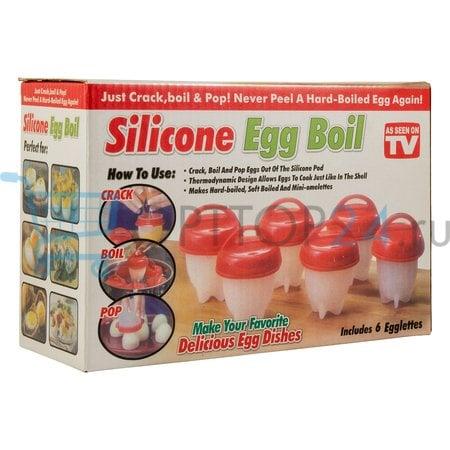 Силиконовые формы для варки яиц без скорлупы Silicone Egg Boil оптом