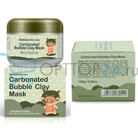 Маска для лица Bioaqua Carbonated Bubble Clay Mask оптом
