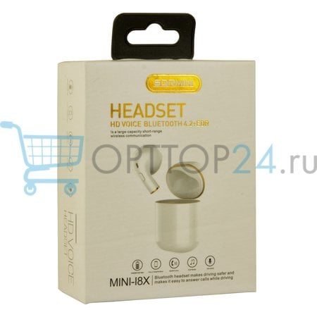 Мини-наушники беспроводные SQRMINI Mini-i8x оптом