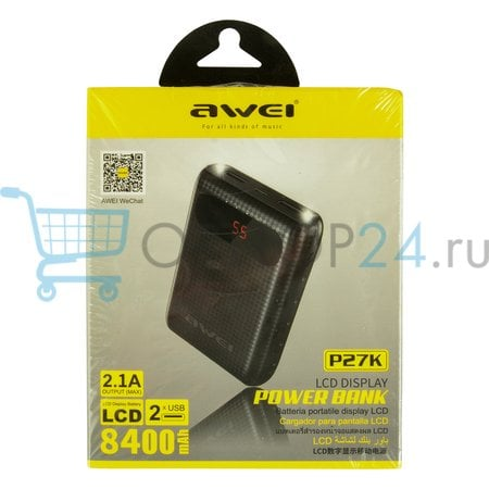 Power Bank Awei P27K 8400 мАч оптом