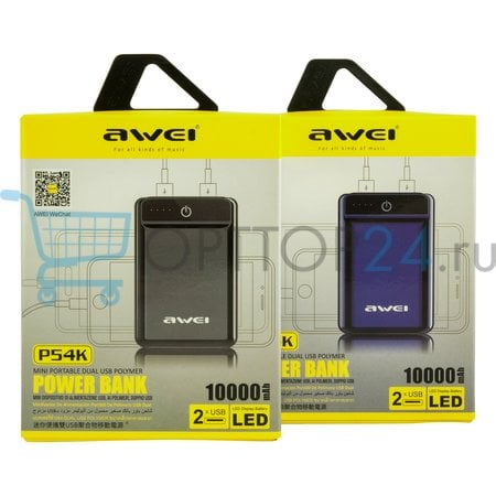 Power Bank Awei P54K 10000 мАч оптом