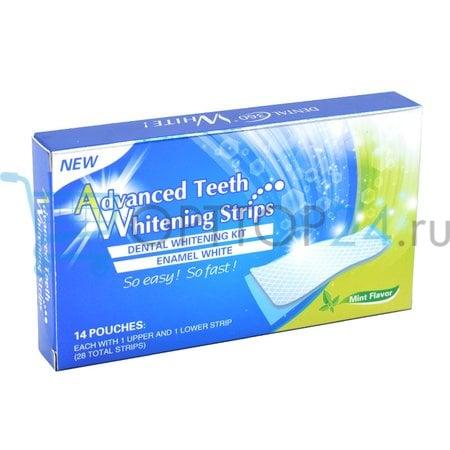Отбеливающие полоски Advanced Teeth Whitening Strips оптои