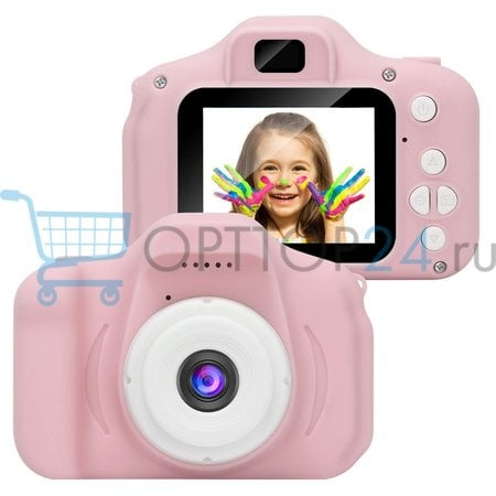 Детский фотоаппарат x2 цифровой Cartoon Digital Camera оптом