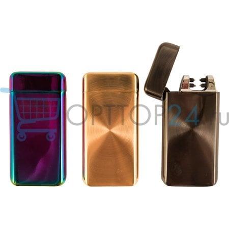 Электроимпульсная зажигалка с зарядкой от usb Lighter Classic Fashionable арт.2 оптом