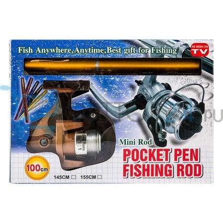 Складная удочка с катушкой Pocket Pen Fishing Rod оптом