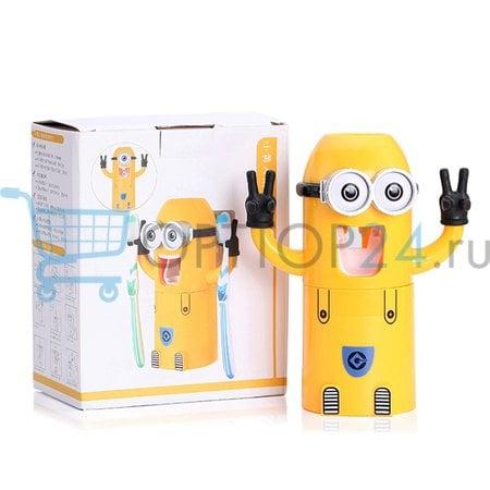 Автоматический дозатор для зубной пасты с держателем для щеток (миньон) оптом