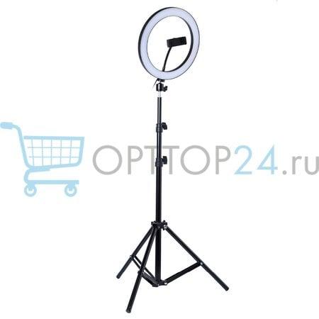 Светодиодная кольцевая лампа 26 см со штативом оптом