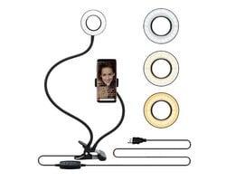 Кронштейн держатель для телефона со светодиодным кольцом