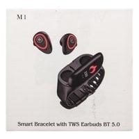 Smart Bracelet М1 с наушниками TWS BT 5.0