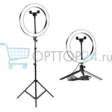 Светодиодная кольцевая лампа 36 см со штативом оптом