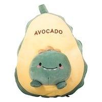 Подушка авокадо с пледом