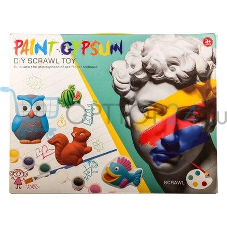 Детский набор для окрашивания гипса Paint Gypsum оптом