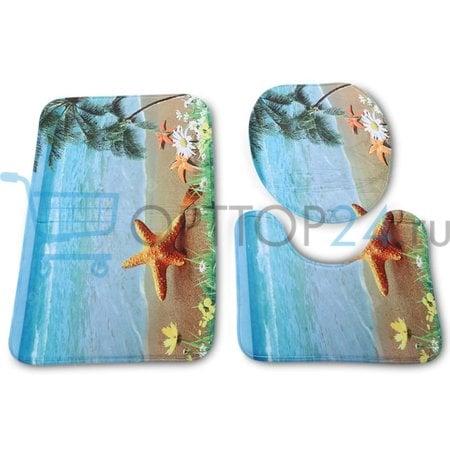 Комплект ковриков для ванной и туалета Bath Mat Set 3 шт оптом