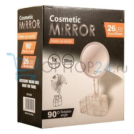 Зеркало для макияжа Cosmetic Mirror 26 LED оптом