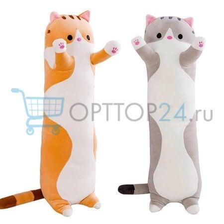 Мягкая игрушка кот батон 90 см оптом