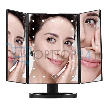 Зеркало для макияжа с LED подсветкой Superstar Magnifying Mirror оптом