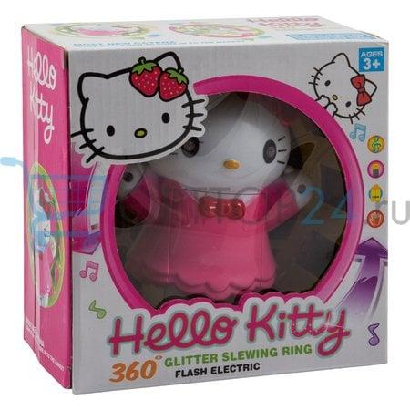 Вращающаяся игрушка со звуковыми эффектами Hello kitty Glitter Slewing Ring оптом