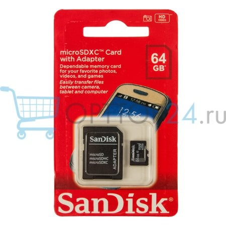 Карта памяти MicroSDHC SanDISK 64GB оптом