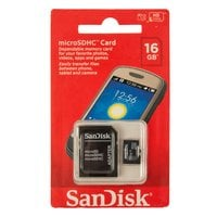 Карта памяти MicroSDHC SanDISK 16GB