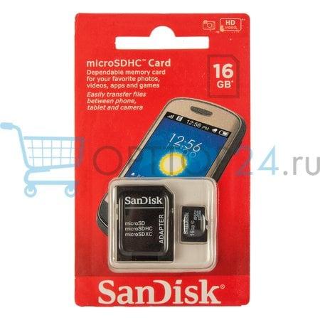 Карта памяти MicroSDHC SanDISK 16GB оптом