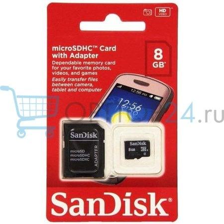 Карта памяти MicroSDHC SanDISK 8GB оптом