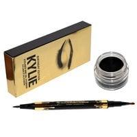 Гелевая черная подводка для бровей KYLIE + карандаш