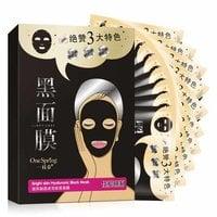 Черная маска с гиалуроновой кислотой Bright skin black mask